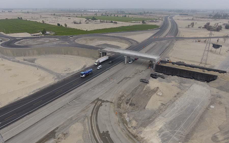 Construcción del Intercambio Vial San Andrés (año 2016)